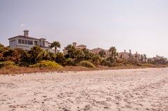 豪华海滩前面家在那不勒斯佛罗里达 库存照片