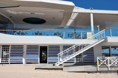 豪华海滩餐馆 免版税图库摄影