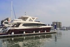 豪华游艇aquitalia 85 图库摄影