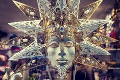 豪华狂欢节面具在威尼斯 库存图片
