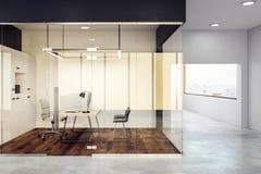豪华玻璃办公室内部 免版税库存照片