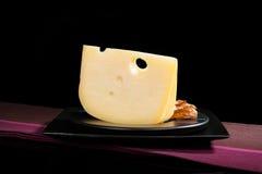 豪华瑞士干酪乳酪静物画 免版税图库摄影