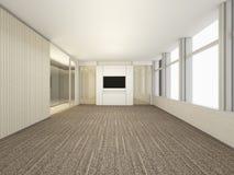 豪华白色空的室, 3D翻译会议室,内部des 皇族释放例证
