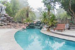豪华的游泳池 图库摄影