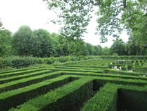 豪华的绿色迷宫公园在维也纳 免版税图库摄影