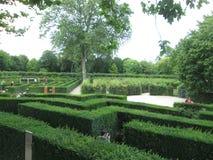 豪华的绿色迷宫公园在维也纳 免版税库存图片