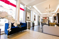 豪华眼镜师商店在波兰 免版税库存照片