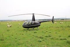 豪华私有直升机 免版税库存图片