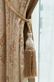 豪华窗帘的织品 免版税库存照片