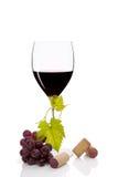 豪华红葡萄酒。 免版税库存图片