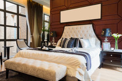 豪华舒适的卧室 图库摄影
