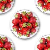 豪华草莓 皇族释放例证