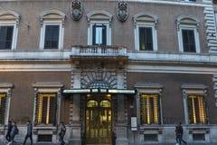 豪华蒂齐亚诺旅馆在罗马,意大利 库存照片