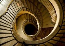 豪华螺旋形楼梯 库存照片