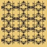 豪华装饰品,坛场金子黑色Vint 部分 免版税图库摄影