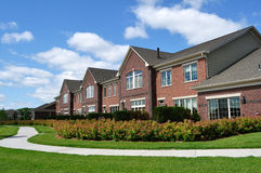 豪华郊区市内住宅 免版税库存图片
