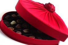 豪华配件箱的巧克力 免版税库存照片