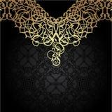 豪华金装饰品 东方主题 向量例证