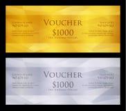 豪华金黄和银色证件有现代背景 免版税库存照片