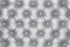 豪华银色皮革纹理 免版税库存图片