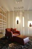 豪华长沙发在现代家 库存图片