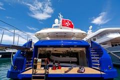 豪华马达游艇 免版税图库摄影