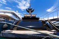 豪华马达游艇 免版税库存图片