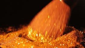 豪华魅力构成趋向金子闪烁轻拍刷子 股票录像