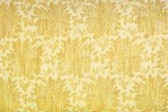 豪华黄色织品纹理 免版税库存图片