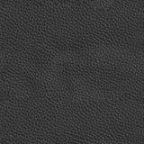 豪华黑皮革纹理 无缝的方形的背景,瓦片r 免版税库存图片