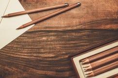 豪华活性炭铅笔 免版税库存照片