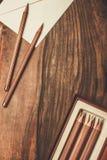豪华活性炭铅笔 库存照片