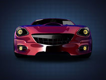 豪华brandless跑车 3d查出被回报的视频空白世界 库存图片