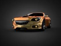 豪华brandless跑车 3d查出被回报的视频空白世界 免版税库存照片