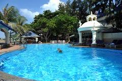 豪华Lan阶旅馆&温泉在头顿 越南 库存照片