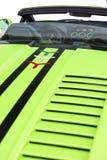 豪华Sportcar的内部包括马达隔间 免版税库存照片