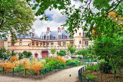 豪宅和Cluny.Paris.France thermae  免版税库存图片