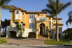 豪宅在佛罗里达 免版税库存照片