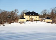 豪宅在瑞典 免版税库存照片