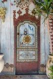 豪宅的门在苏斯中世纪麦地那  免版税图库摄影