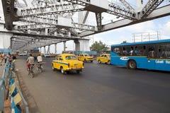 豪拉桥梁,加尔各答,印度 免版税库存图片