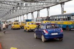 豪拉桥梁,加尔各答,印度 免版税库存照片
