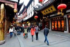 豫园旅游小店在上海,中国 免版税库存照片