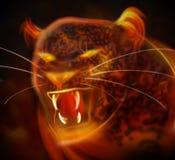抽象豹子攻击 免版税库存照片
