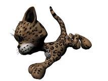 豹子长毛绒 库存例证
