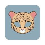 豹子面具 免版税图库摄影