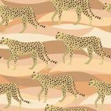 豹子,猎豹表面样式,豹伪装纺织品设计的,织品打印,固定式,包装,Wa重复样式 向量例证