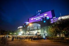 豹美国橄榄球联盟体育场在街市夏洛特 库存图片