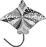 黄貂鱼 向量例证
