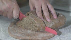 贝克切热的新鲜面包 慢的行动 影视素材